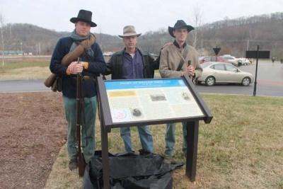 Trail Marker dedicated at Hollow Tree Gap