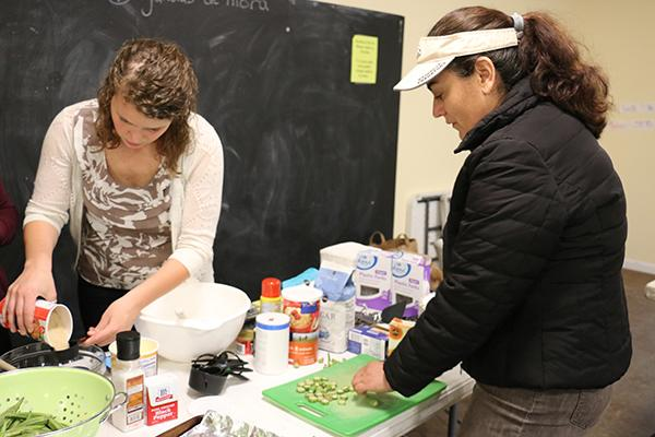 Southern-style veggie meets Spanish vegetariano in cooking class