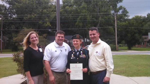 FHS student receives highest national JROTC award
