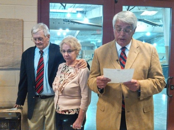 Former county, state leader attends Clint Callicott Arena dedication