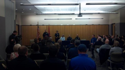 Franklin Police Department welcomes 10 new officers; honors 2 others