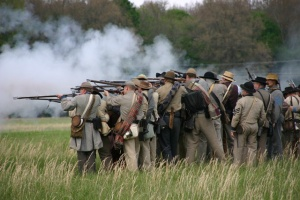 Civil war reenactors demonstrate the Battle of Triune | Civil War,Battle of Triune,Kings' Chapel,Arrington TN,community,Franklin TN news,Franklin Home Page,FHP