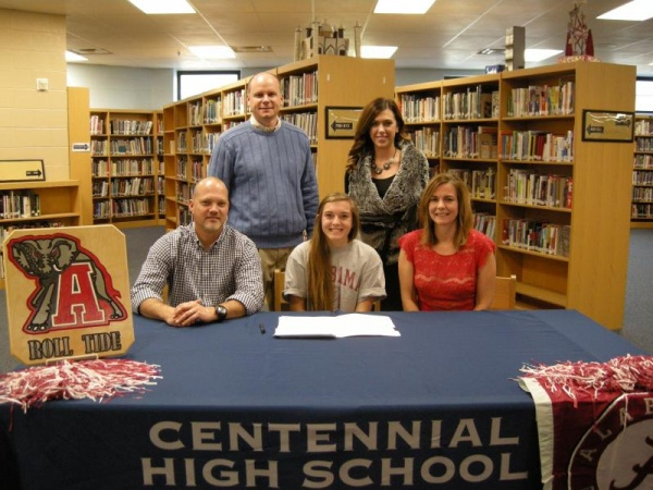 Centennial's Petty signs with Alabama | Centennial, Centennial Cougars, CHS, Volleyball
