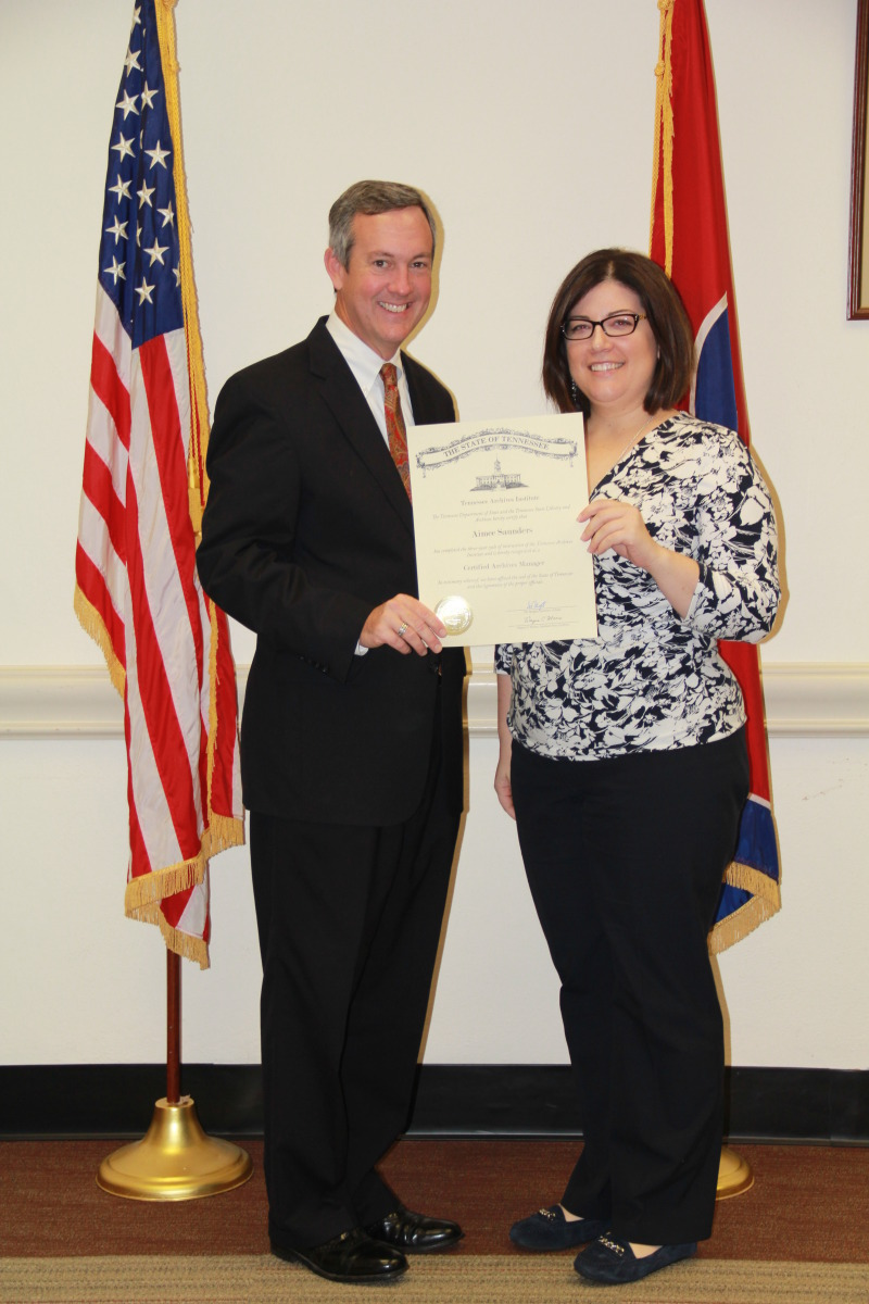 Archivist completes state training in collecting, maintaining and preserving records