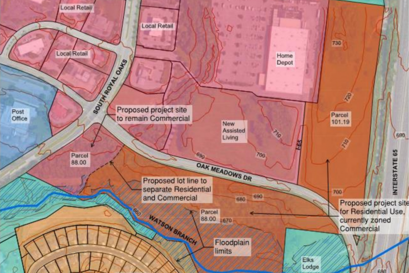 City staff share traffic concerns for development off Oak Meadow