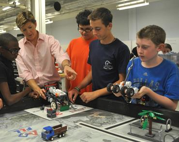 Robotics camp in July is for students 11 to 14