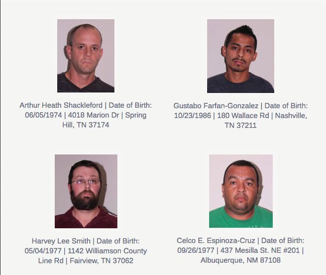 Police arrest four men in prostitution sting in Franklin