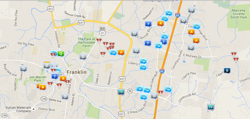 Assaults topped Franklin crime incidents last week