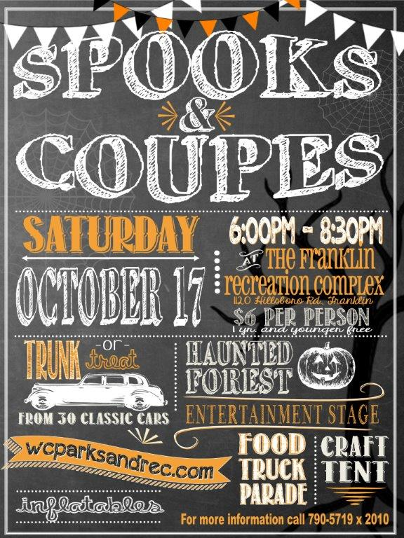 'Spooks and Coupes' is Parks and Rec Halloween event in Franklin
