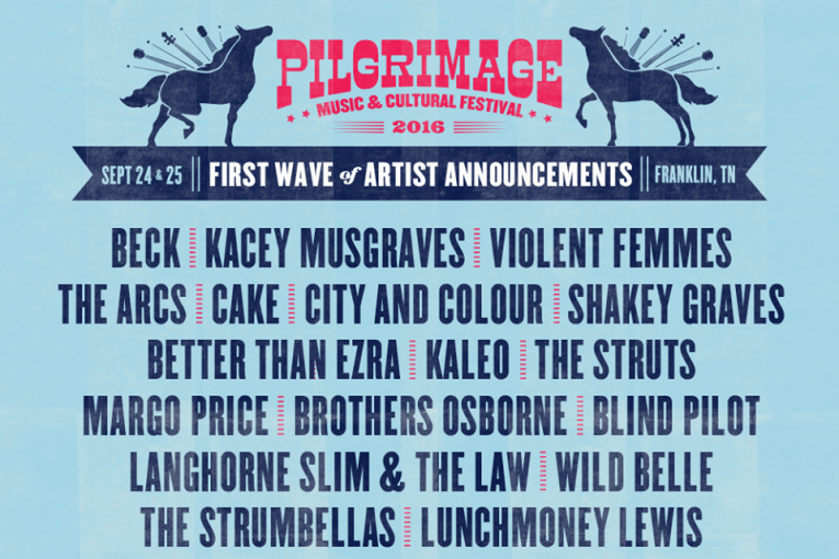 Pilgrimage Music Festival 2016 announces remaining performers
